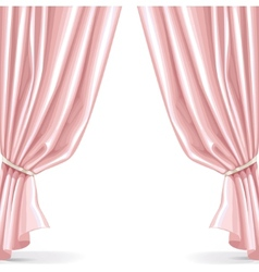 Pink curtain isolated on a white background 2 vector