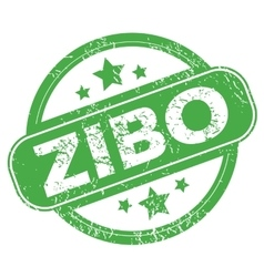 Zibo green stamp vector