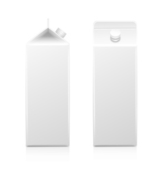 Milk juice carton packaging package box white vector