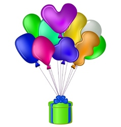 Balloon gift box vector