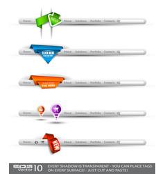 menu bars vector image