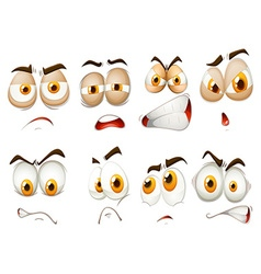 Different emotions of facial expression vector
