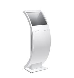 Information kiosk pos poi terminal stand vector