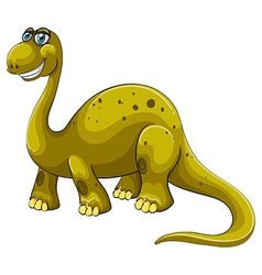 Green sauropod with happy face vector