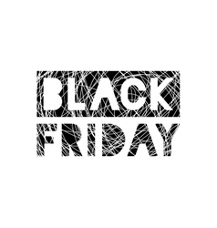Black friday scribble grunge stamp on white vector
