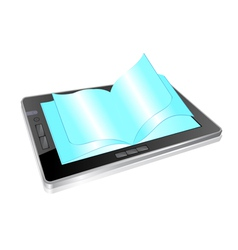 Tablet book vector