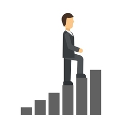 Career ladder vector