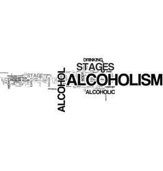 Alcoholism stages stages of alcoholism you should vector
