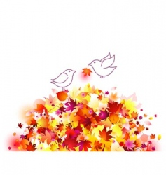 autumn birds vector image vector image