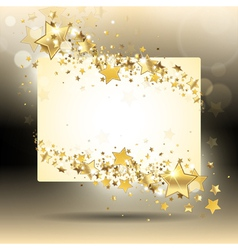 banner with gold stars vector image vector image