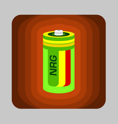 battery energy concept background cartoon style vector image