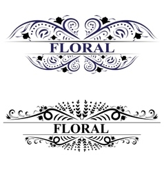 Beautiful floral banners with swirls vector image