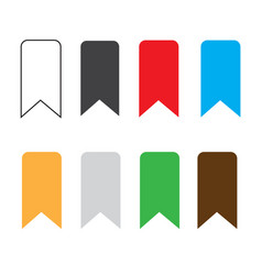 Bookmark icon on white background bookmark sign vector