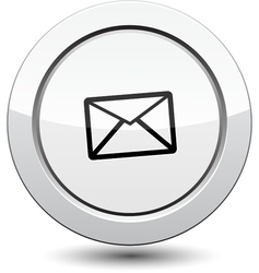 Button with email icon vector