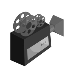 Camcorder icon black monochrome style vector