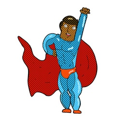 Comic cartoon superhero vector