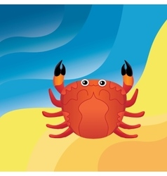 Crab on the sand vector image vector image