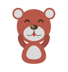 Cute bear animal character funny vector