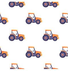 Excavator tractor vehicle seamless pattern texture vector
