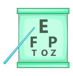Eye test icon cartoon style vector