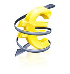 Falling euro vector