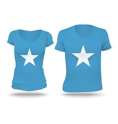 Flag shirt design of Somalia vector image
