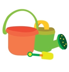 Isolated garden set toys vector