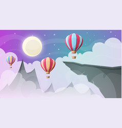 landscape mountain air ballon vector image
