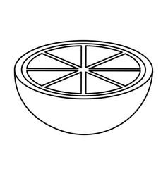 Lemon fruit icon image vector