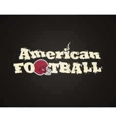 Modern unique american football poster with on vector
