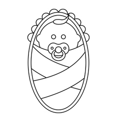Newborn icon in outline style vector image