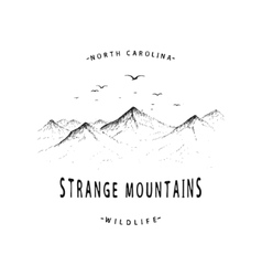 Old label with mountains vector image vector image