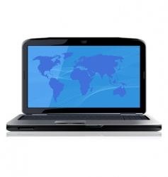 opened laptop vector image vector image