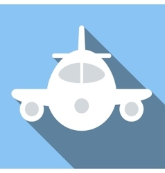 Plane colored flat icon vector