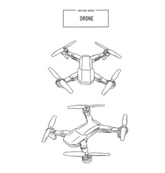 quadcopter and drone vector image vector image