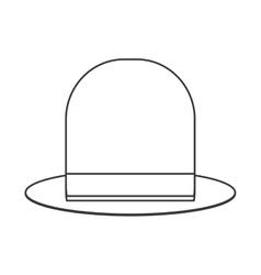retro hat icon vector image