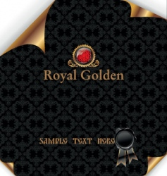 royal background with wax seal vector image vector image