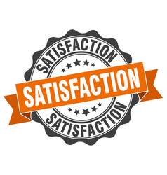 Satisfaction stamp sign seal vector