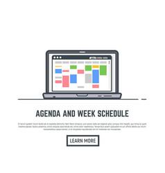 schedule online app vector image