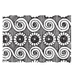 Scroll-rosette pattern is a stylized flower vector