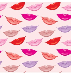 Seamless lips pattern vector image vector image