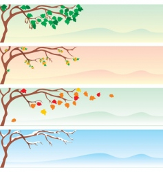 seasons long vector image