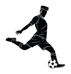 soccer football silhouettes player vector image