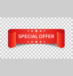 special offer ribbon icon discount sale sticker vector image