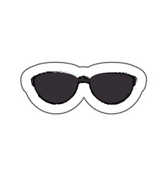 Sunglasses tourism isolated icon vector