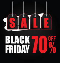 tag of black friday sale on black vector image vector image
