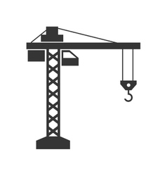 Crane machine construction icon graphic vector