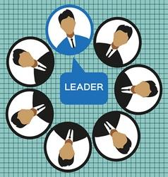 Business leader of the team design flat style Digi vector image