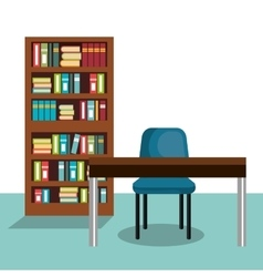 Study room house icon vector