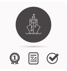Cruise icon ship travel sign vector